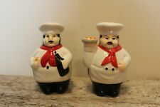 Cooking Charm Fat Chef French Baking Baker Pepper Mill Salt Shaker Charm Food