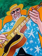 DUKE ROBILLARD PRINT poster acoustic blues roots cd epiphone archtop groove-rama