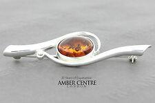 Baltic Amber Brooch 925 silver handmade - BD0110 RRP£49!!!