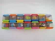 14 Fisher Price PEEK A BLOCK Blocks Visual Tactile Development ANIMALS Lot #1