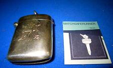 SILVER BIRMINGHAM 1898 George Unite Match Holder VESTA CASE corrispondenza sicuri Striker