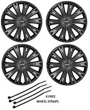 FORD Fiesta ruota rifinitura TAPPI TAPPO PLASTICA copre set completo nero 15 in (ca. 38.10 cm)