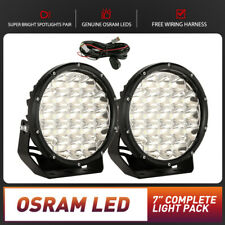 Pair Spotlight LED Driving Lights 7inch Spot Work Light OSRAM Fog Lamp Offroad