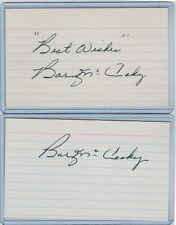 (2) BARNEY MCCOSKY INDEX CARD SIGNED 1939-53 TIGERS A'S PSA/DNA CERT 1917-1996