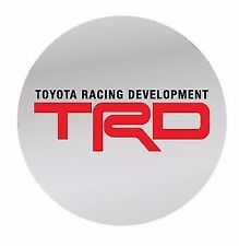 TOYOTA TRD RED WHITE TWINCAM SPORTS WHEEL RIM CENTRE EMBLEM DECALS STICKERS 58mm