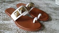 Michael Kors White Sandals with Gold Studs Size 7m