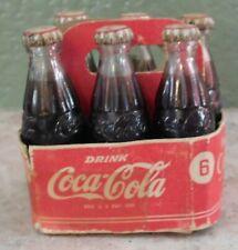 Vintage MINI COCA COLA Coke Bottles 6 Pack in Case