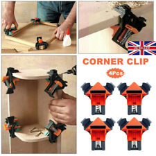 UK 4PCS 90 Degree Right Angle Clip Clamps Corner Holder Woodworking Hand Tool V