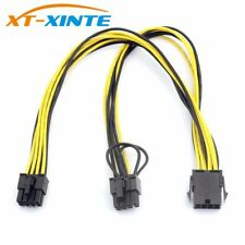 CPU 8Pin Extension Cable 8P(6+2)Pin Famale Power Supply Cable Card BTC Extend