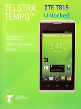TELSTRA TEMPO ZTE T815  SMARTPHONE WHITE (UNLOCKED)