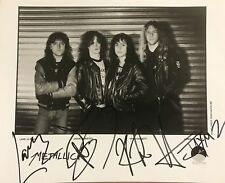 Metallica  Signed Autographed 8x10 Photo RP
