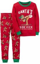 NEW Nwt Carters Baby Boys 2 Pc Christmas Holiday Pajamas Sz: 12 Months