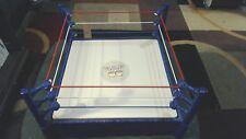 2010 WWF WWE RETRO FLASHBACK RED WHITE & BLUE ROPE FIGURE WRESTLING RING MATTEL