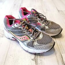 Saucony Grid Cohesion 6 Womens Sz 8 Gray Pink Running Training Shoes Sneakers