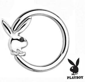 *NEW OFFICIALLY LICENSED PLAYBOY  1.2mm Universal CBR Ring Bar Barbell