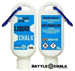 BattleChalk® 50ML White Liquid Chalk Carabiner Gymnastics Weightlifting Gym Rock