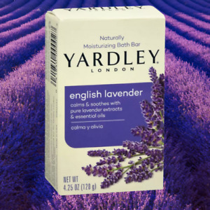 YARDLEY LAVENDER SOAP BAR  X5 - 120G, Calms, Soothes and Relaxes