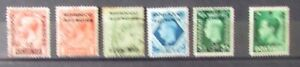 Morocco Agencies Postage Stamps 6 Stamps mint and used