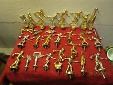 Lot of Vintage Trophy Topper Metal  Ornaments Bowling Men Women Basketball