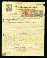 Norway Stamps Lot of 13 Documents with Revenues from 1917