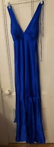 Cache 100% silk royal blue marilyn gown size 2