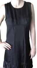 BURBERRY Dress Black DEMI CUP Sleeveless Viscose Clothes Sz 42