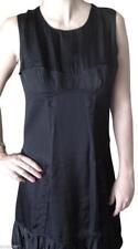 BURBERRY Dress Black DEMI CUP Sleeveless Viscose Clothes Sz 42