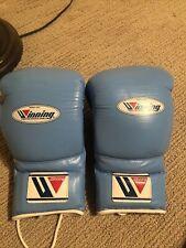 Winning Boxing Gloves 16 oz Sky Blue Lace Up Ms-600 Not Real Winnings Read Desc.