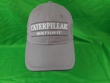 CATERPILLAR BUILT FOR IT HAT CAP GRAY WITH EMBROIDERED LOGO Strapback