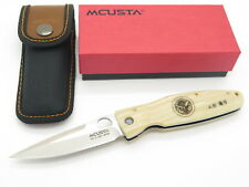 MCUSTA SEKI JAPAN GUNSHIN MC-185 WHITE MICARTA VG-10 FOLDING HUNTER KNIFE