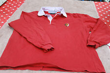 POLO  **  STADE TOULOUSAIN  **  TAILLE S ROUGE  / 2 ETOILES - MANCHES LONGUES