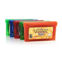 5 Styles Fan Advance Gameboy Cartridge Game Card For Pokemon NDSL/GBC/GBM/GBA/SP