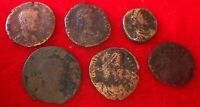 6 ANCIENT ROMAN COINS: B  (310 - 350 AD)  Good Detail... ROMAN COIN COLLECTIONS