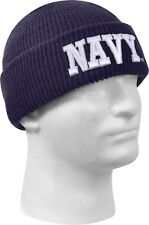 Navy Blue Acrylic Deluxe Embroidered US Navy Official Watch Cap
