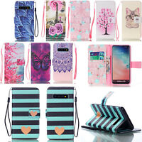 Wallet Designs Flip Leather Phone Case Slots Card Cover For Samsung Galaxy S10