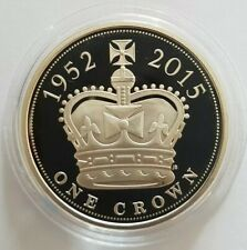More details for 2015 royal mint the longest reigning monarch uk silver proof five pounds £5 coin