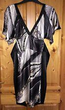 Silk V-Neck Geometric Regular Size Dresses for Women