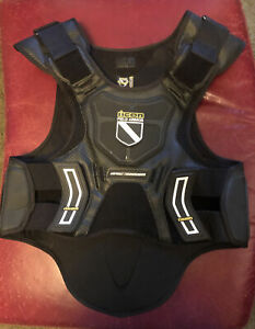 Icon Field Armor Motorcycle Vest Men's Size Regular Black Protective Gear