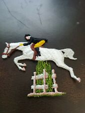 Vintage NOS 1950s equestrian Horse Jumping Patch
