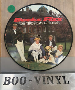 """BUCKS FIZZ - NOW THOSE DAYS ARE GONE  7"""" PICTURE DISC EXCELLENT"""