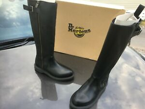 Dr Martens Chianna black polished lausanne leather boots UK 3 EU 36