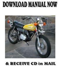 1973 - 82 Yamaha GT80 / MX80 factory repair shop service manual on CD