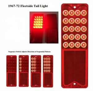 (1) Sequential LED Brake Tail Light for 1967-72 Chevy Pickup Truck Jimmy Blazer