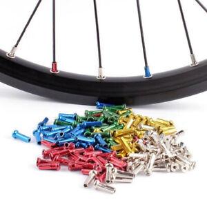 72 Anodized Wheel Spoke Nipples for MTB Mountain BMX Cycling Bike Bicycles