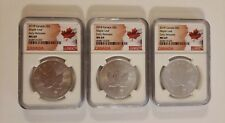 2018 Canada S$5 Maple Leaf Early Releases MS69 NGC - 3 Coin Set