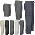 Mens 3 in 1 Elasticated Waist Work Casual Rugby Trousers Pants Cargo Combat
