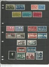 Mint No Gum/MNG Norwegian Stamps