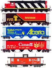 Canadian National Grain Train set of 5 magnets by Andy Fletcher