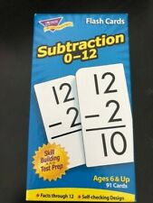 Trend Enterprises Inc. T-53103 Flash Cards Subtraction 0-12 91/box