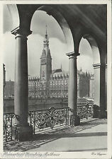 0234. s/w-AK HANSESTADT HAMBURG. Rathaus. Echtfoto, 6 Pfg. Hindenburg, gel.